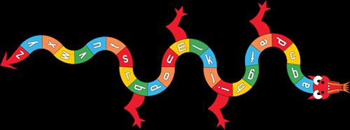 Pleinplakker Alfabet Draak A-Z