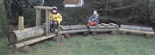Robinia speelelement Dino trein
