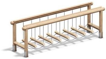 4FCircle outdoor fitnesstoestel hangbrug, hout