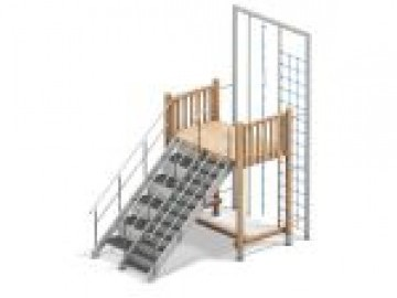4FCircle outdoor fitnesstoestel trap