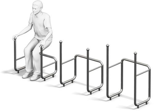 4FCircle outdoor fitnesstoestel kniebuigingen