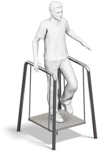 4FCircle outdoor fitnesstoestel zwevend platform