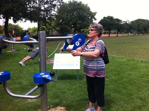 4FCircle outdoor fitnesstoestel ergometer bovenlichaam-3