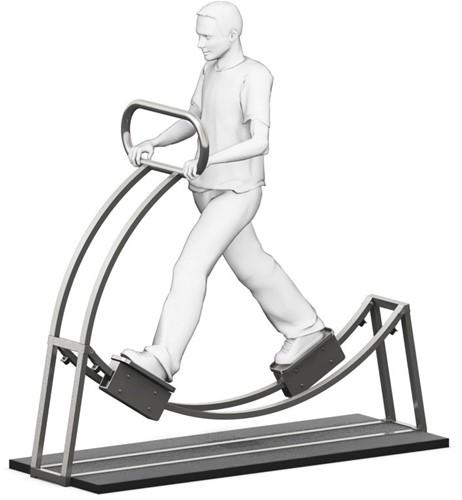 4FCircle outdoor fitnesstoestel gebogen loop