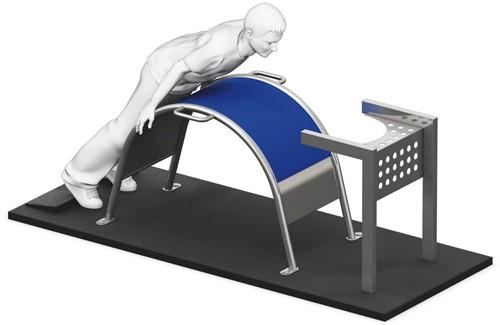 4FCircle outdoor fitnestoestel rugstrekken