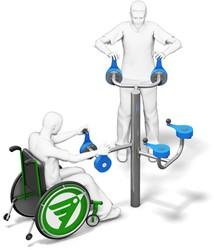 4FCircle outdoor fitnesstoestel ergometer bovenlichaam, ook geschikt voor mindervaliden