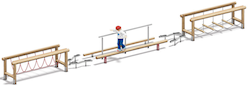 4FCircle outdoor fitnesstoestel balanceerparcours Trimmy II, hout