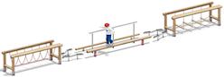 4FCircle outdoor fitnesstoestel balanceerparcours Trimmy II, rvs