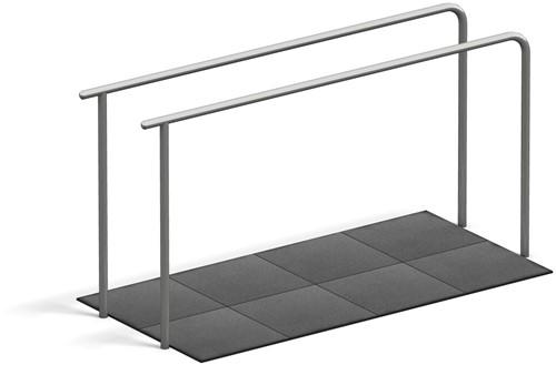 4FCircle outdoor fitnesstoestel dips, 2 liggers en valdempende platen