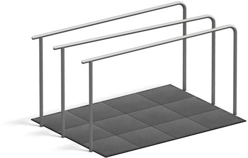 4FCircle outdoor fitnesstoestel dips, 3 liggers en valdempende platen