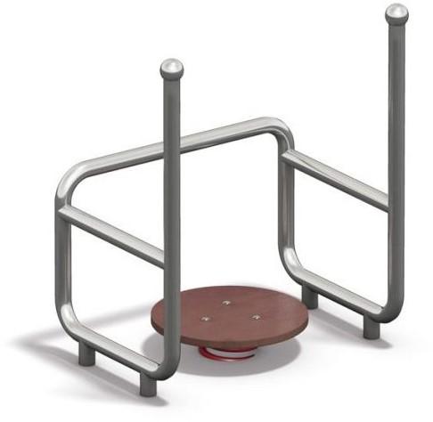 4FCircle outdoor fitnestoestel kniebuiging op verende plaat