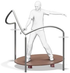 "4FCircle outdoor fitnesstoestel ""hete draad mini"""