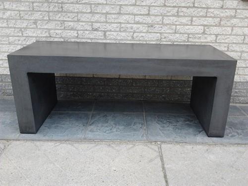 Tuinbank robuust, afm. 125 x 42 x 50 cm, beton, antraciet