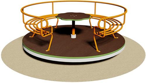 Draaimolen Giostra Max met houten bodemplaat en tafeltje