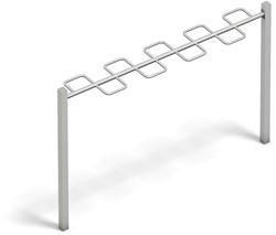 4FCircle Calisthenics aanbouwelement gebogen hangladder