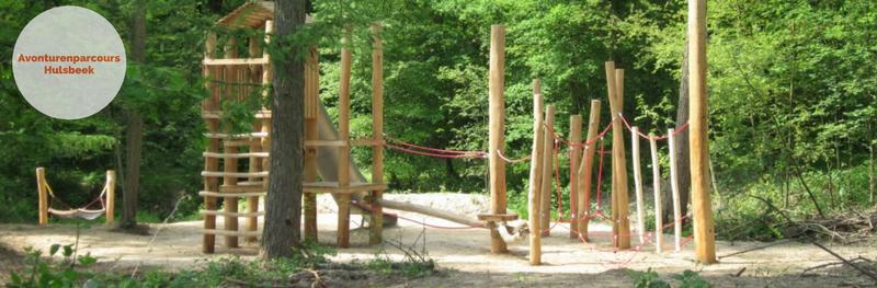 Speelbos Hulsbeek, uitdagend balanceerparcours over het water