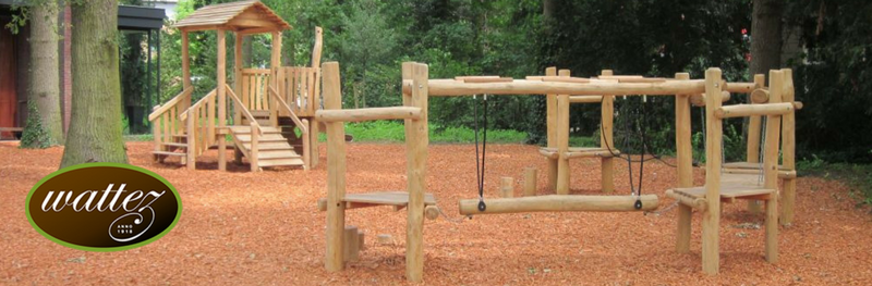 Nieuwe speeltoestellen voor Schenkerij Wattez in Van Heekpark