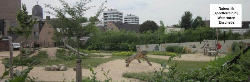 Natuurlijk speelterrein bij Watertoren Enschede