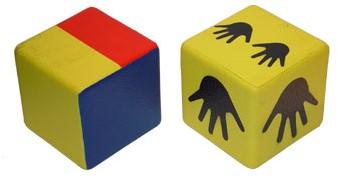 Pleinplakker accessoire dobbelstenen voor spel Twister