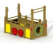 Speelelement aanhangwagen  - montage op de grond (type B)