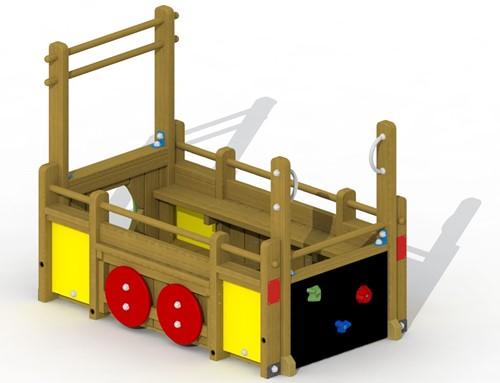 Speelelement aanhangwagen  - montage in de grond (type A)