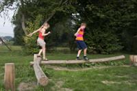 ECO-Play robinia dubbele evenwichtsbalk