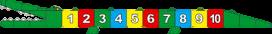 Pleinplakker Cijferkrokodil 2