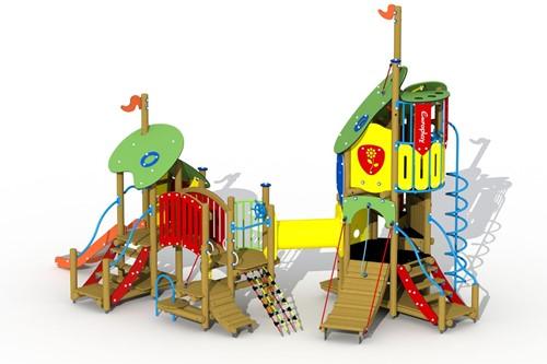 Combinatietoestel De klokkenluider van de Notre-Dame - montage in de grond (type A) - rvs glijbaan