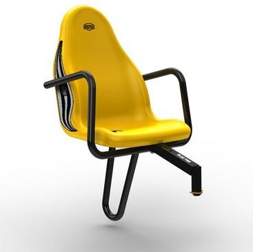 BERG Passenger seat John Deere, geel (duostoel)