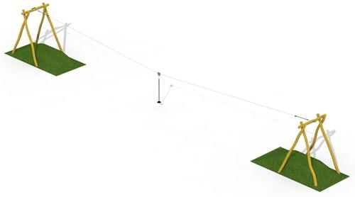 ECO-Play robinia kabelbaan (zonder platform)