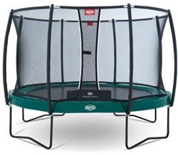 BERG trampoline Elite+ groen, veiligheidsnet T-series, diam. 380 cm.