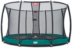 BERG trampoline Elite+ inground groen, veiligheidsnet T-series, diam. 430 cm.