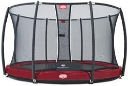 BERG inground trampoline Elite+ rood, veiligheidsnet T-series, diam. 330 cm.