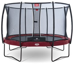 BERG trampoline Elite+ Tattoo rood, veiligheidnet T-series, diam. 430 cm.