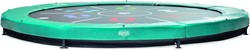 BERG Sport inground trampoline Elite+ Tattoo, groen, diam. 430 cm.