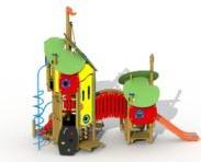 Combinatietoestel De Kikkerkoning - montage op de grond (type B) - roestvrijstalenglijbaan