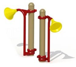Speelelement: megafoon (2) voor metalen palen