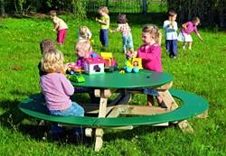 Kunststof picknicktafel