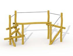ECO-Play robinia ravijnbrug balanceertoestel, type A