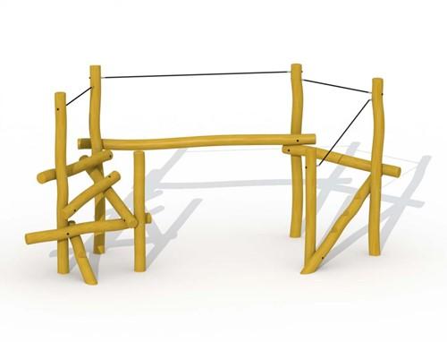 ECO-Play robinia ravijnbrug behendigheidstoestel, type A