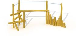 ECO-Play robinia ravijnbrug balanceertoestel, type B