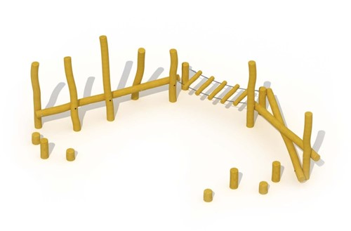 ECO-Play robinia balanceerparcours Junglepad, type A