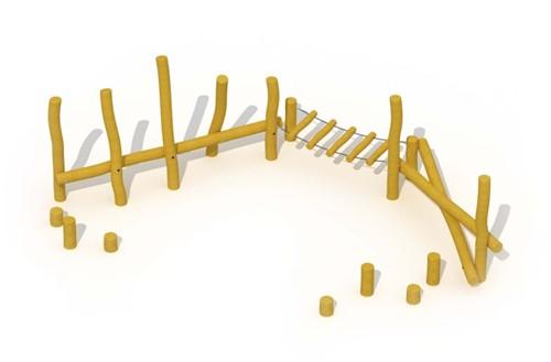 ECO-Play robinia behendigheidsparcours Junglepad, type A