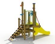 Combinatietoestel De kleine zeemeermin - montage op de grond (type B) - kunststof glijbaan