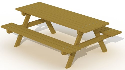 Europlay picknicktafel 2,0 m