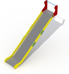 Glijbaan voor platformhoogte 262 cm, rvs