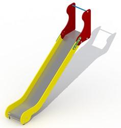 Glijbaan voor platformhoogte 137 cm, rvs