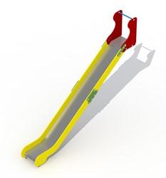 Glijbaan voor platformhoogte 202 cm, rvs