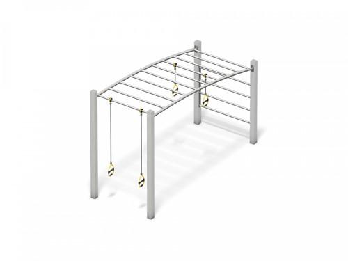 4FCircle outdoor fitnesstoestel hangladder met ringen