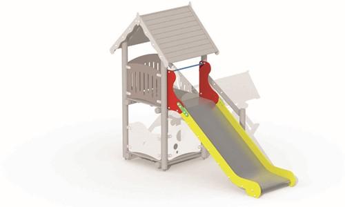 Glijbaan voor platformhoogte 137 cm, rvs - montage op de grond (type B)